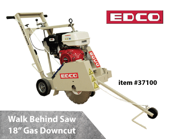 EDCO Wald Behind Saw 18in Gas Downcut
