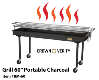 Crown Verity Grill 60in Portable Charcoal