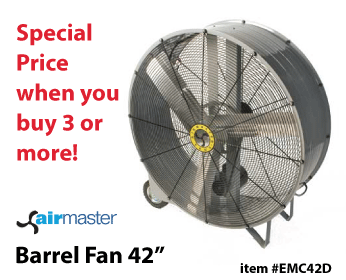 Airmaster Barrel Fan 42in