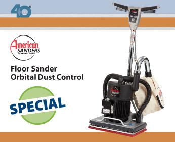 American Sanders Orbital Dust Control Floor Sander