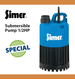 Simer Submersible Pump 1/2HP