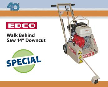 EDCO Walk Behind Saw 14in Downcut
