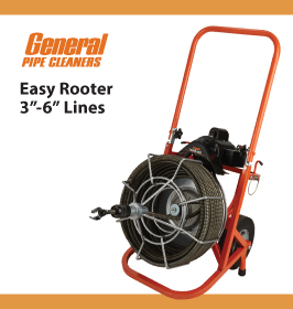General Pipe Cleaners Easy Rooter 3to6in Lines