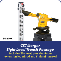 CSTberger Sight Level Transit Package