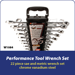 Performance Tool Combination Wrench Set 22 Piece