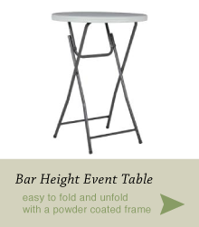 Bar Height Event Table by Blue Sky